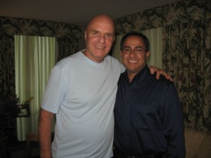 Dr. Wayne W. Dyer and Ray Hemachandra in October 2008