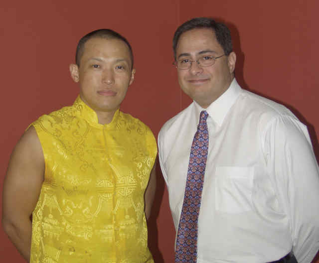 Sakyong Mipham and Ray Hemachandra in British Columbia