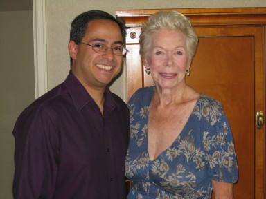 Louise Hay with Ray Hemachandra, circa 2008