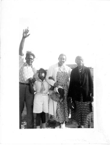 My father, Neal, with his father, Balatunga Hemachandra; his mother, Leathe Hemachandra (Leathe Wade Colvert); and her mother, Martha Pleasant