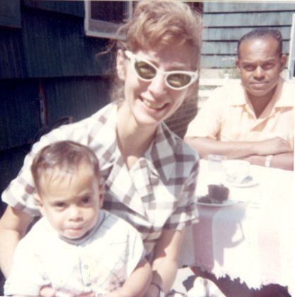 Me at 1 year old with my parents, Rita and Neal Hemachandra