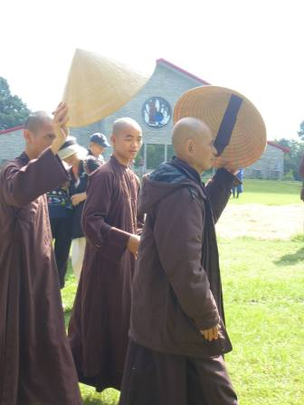 Thich Nhat Hanh at Magnolia Grove in late September 2013