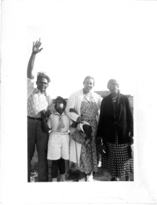 My father, Neal Hemachandra, as a boy, framed by his mother, Leathe; grandmother, Martha; and father, Balatunga.