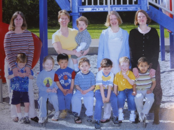 Nicholas at four years old with his Alderwood Elementary preschool class