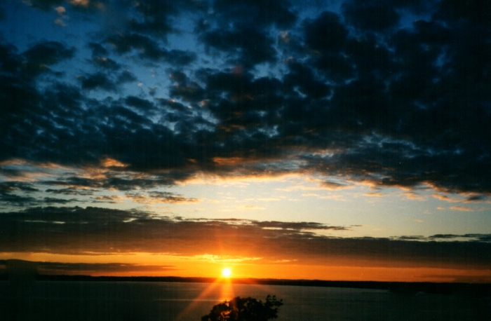Sunset over Bellingham Bay, 1996