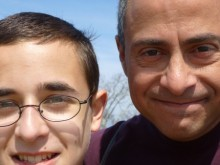 Me and my son, Nicholas, today.