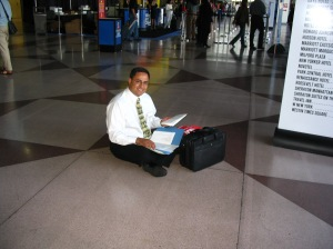 Me on the floor at the Javits Center
