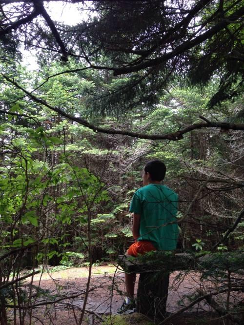 Nicholas at Richland Balsam Summit in the Blue Ridge Mountains