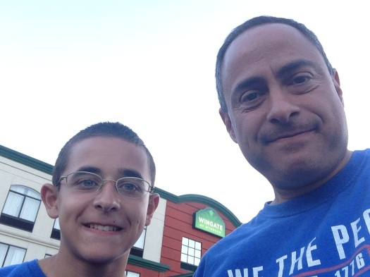 Nicholas and Ray Hemachandra, July 4, 2014, in Mt. Laurel, N.J.