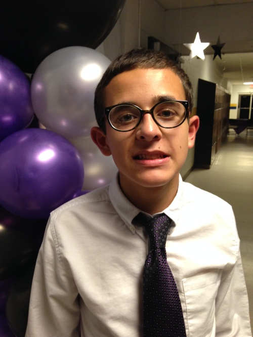 Nicholas Hemachandra, 14, earlier this year at the 8th grade end-of-middle-school dance.