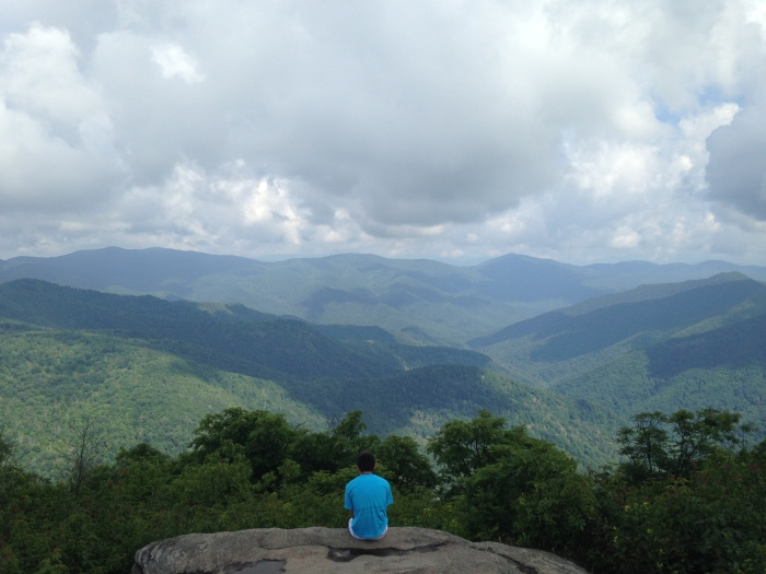 Nicholas Hemachandra in the Appalachian Mountains today, July 25, 2015.