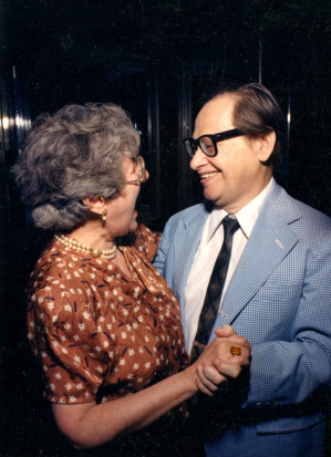 Hattie Harvey and John Harvey in 1988
