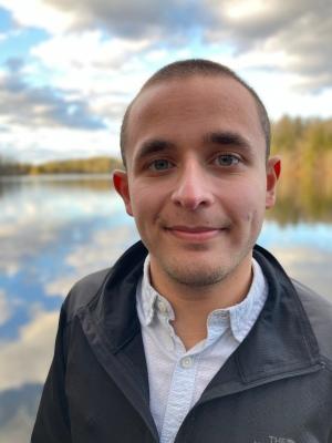 Nicholas Hemachandra at Lake Julia in DuPont State Forest in North Carolina